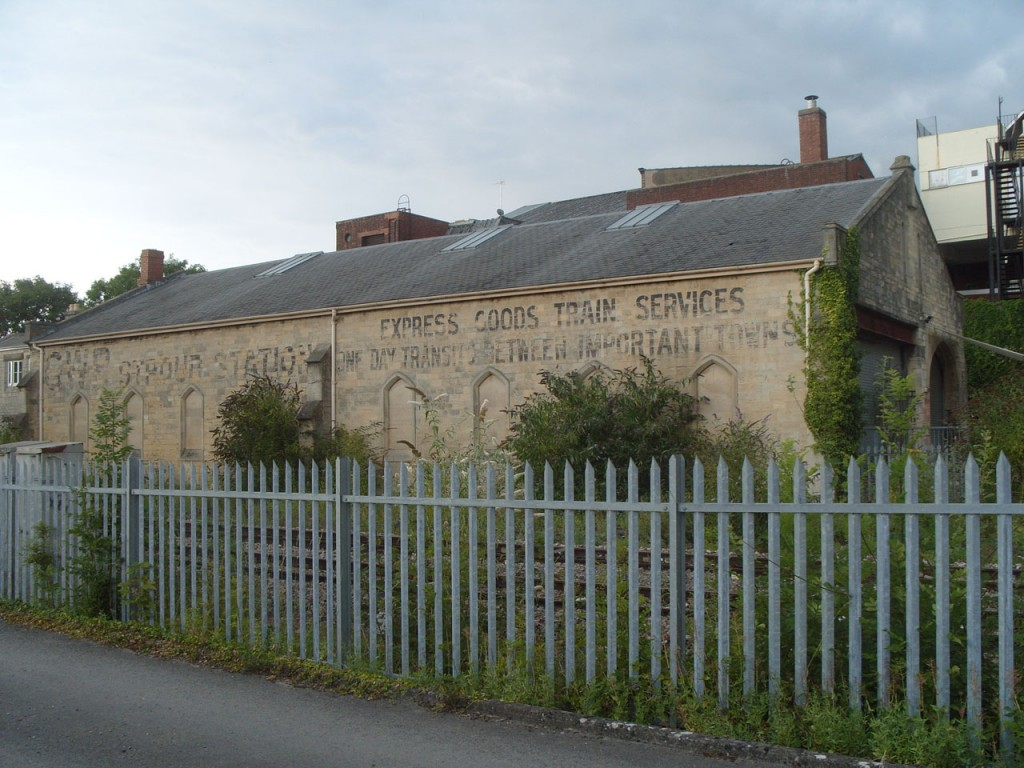Goods Shed from opposite side of the railway line