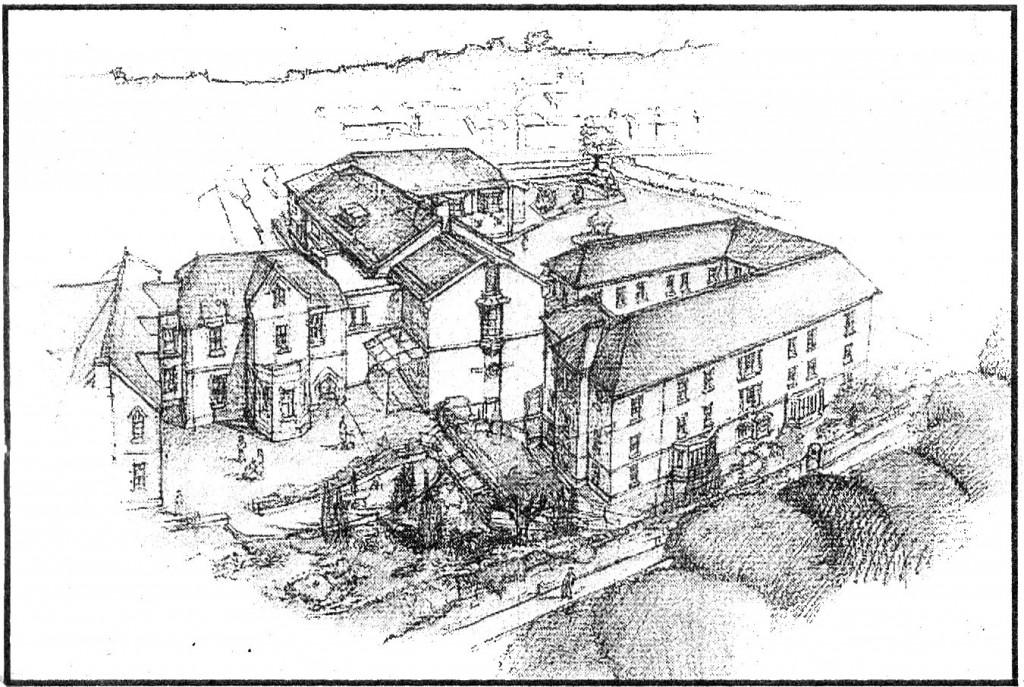 1996 sketch of hospital