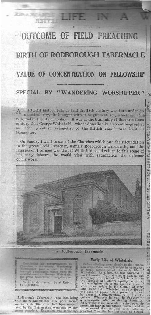 1930_11_29 Gloucester Journal Rodborough Tab-1