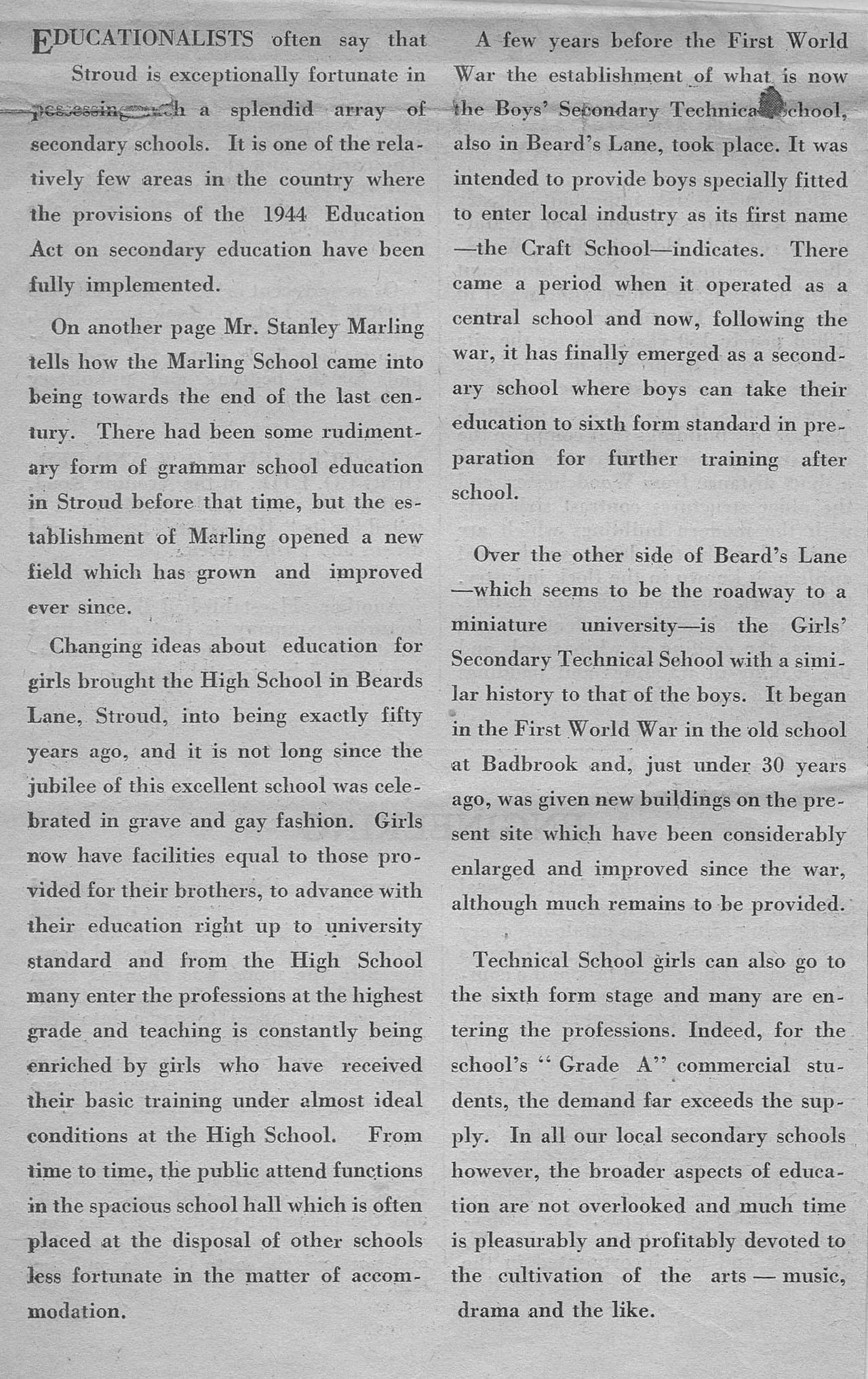 1954 schools