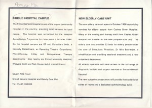 Stroud Hosp Campus + Elderly Care Unit 1996 a