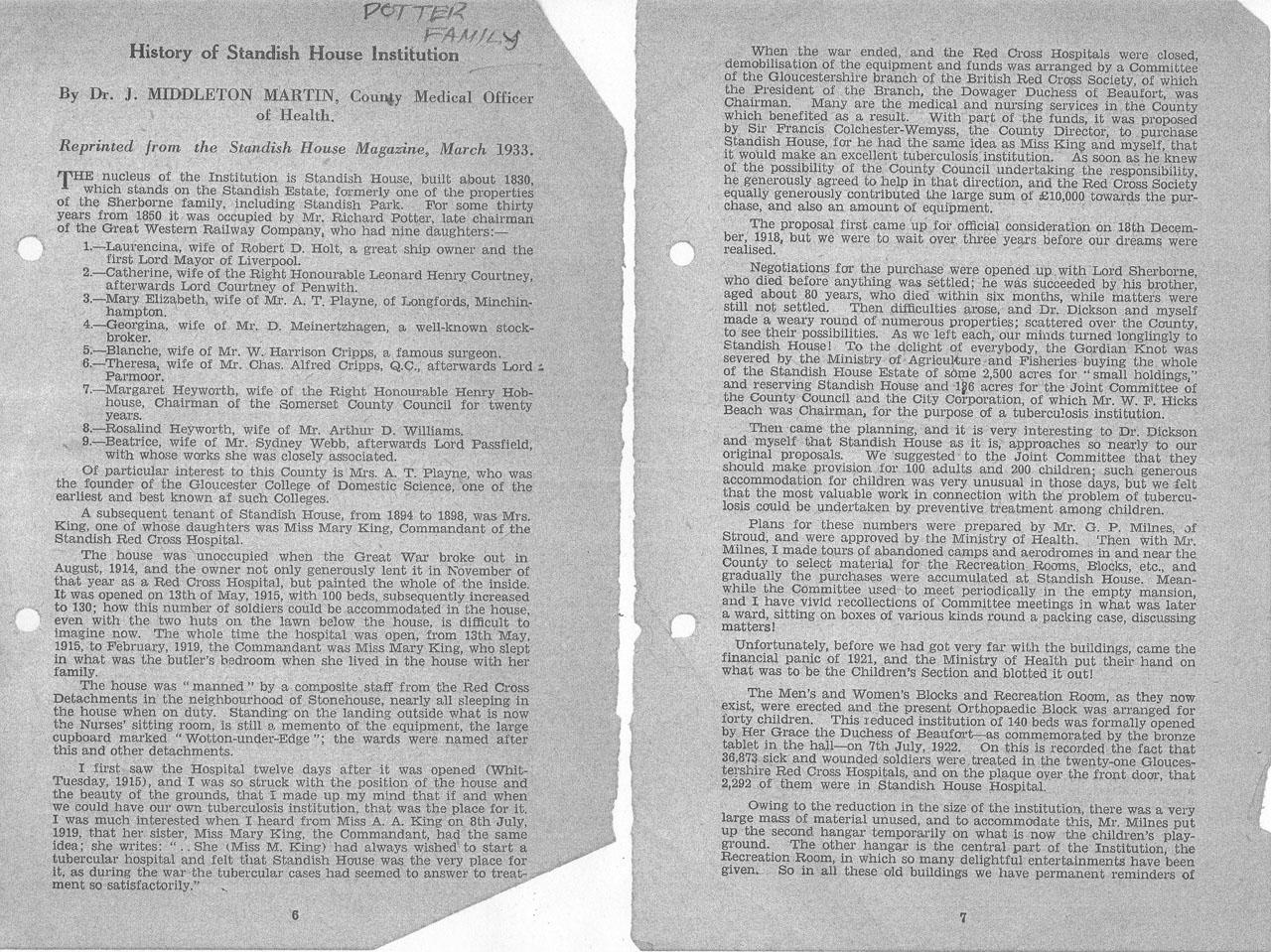1947 09 Standish Hosp history Standish Mag1