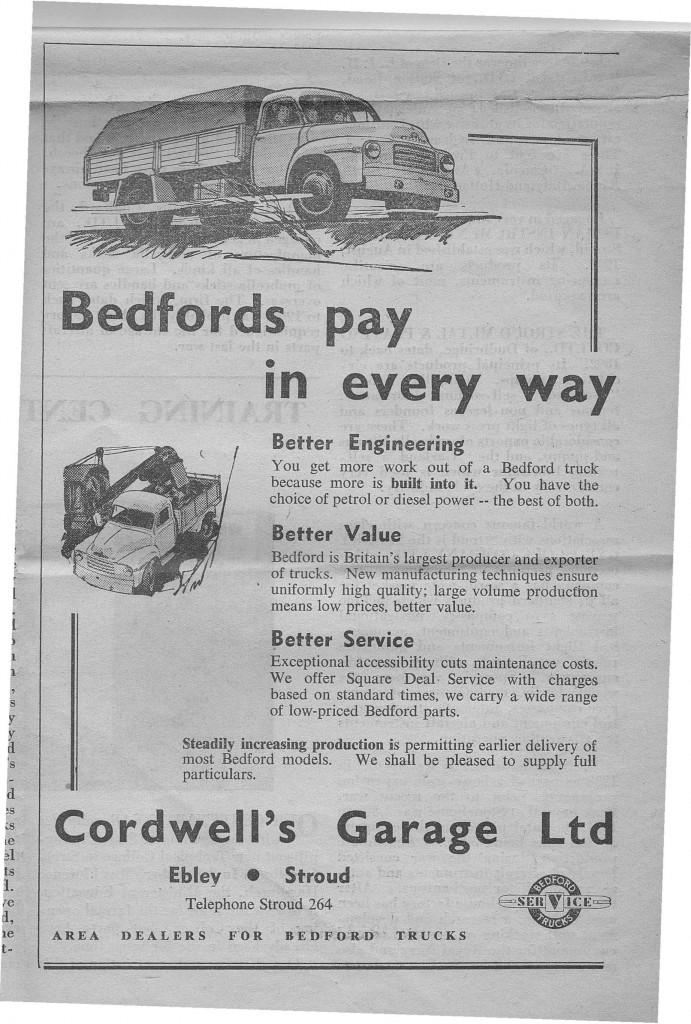 1954 advert cordwells