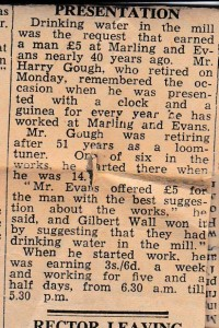 1956 (approx) Harry Gough leaves Marling and Evans