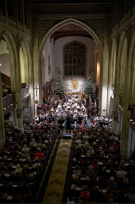 Choir and audience
