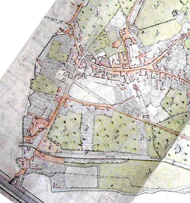 1820 Stroud town centre Charles BAKER