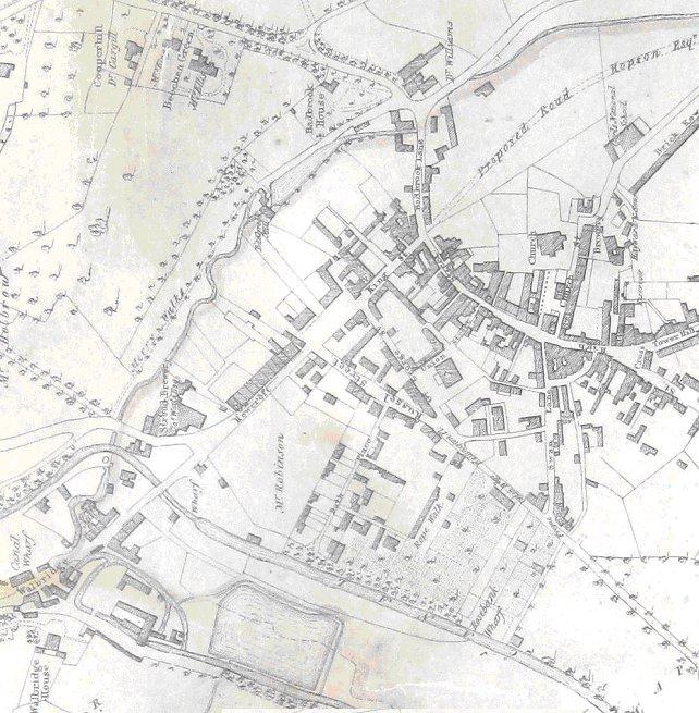 1835 Stroud town centre John WOOD