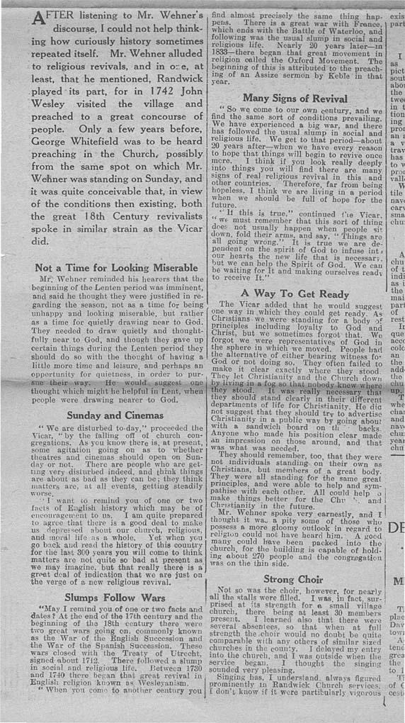 1931_02_21 Gloucester Journal Randwick church-2
