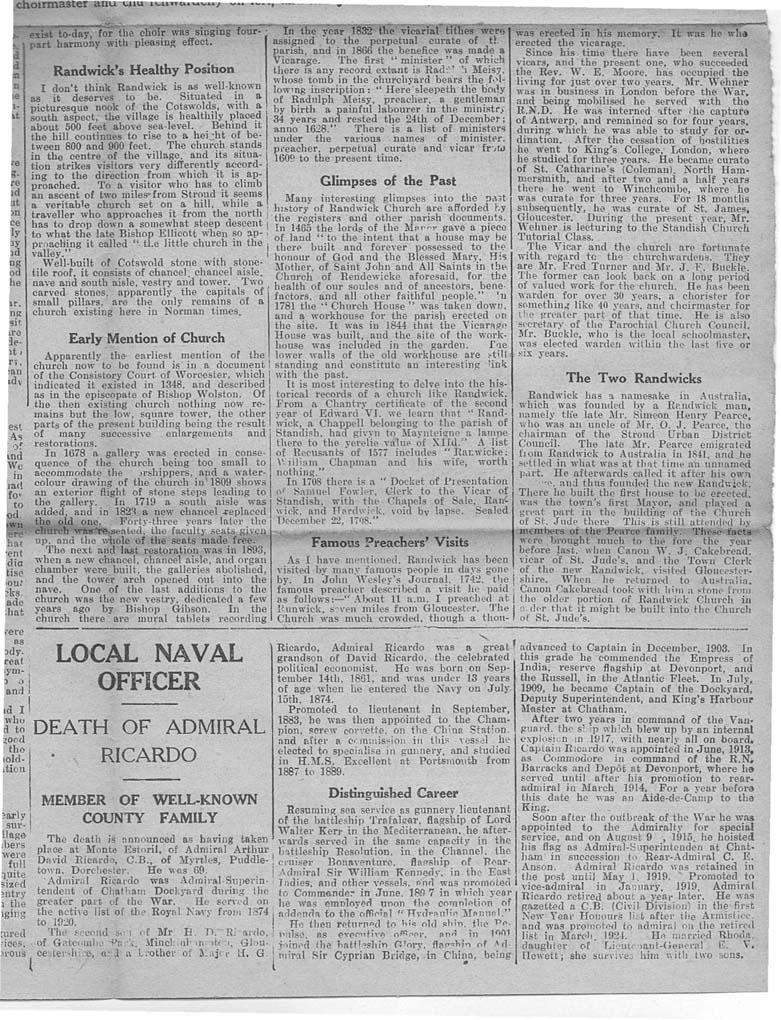 1931_02_21 Gloucester Journal Randwick church-4