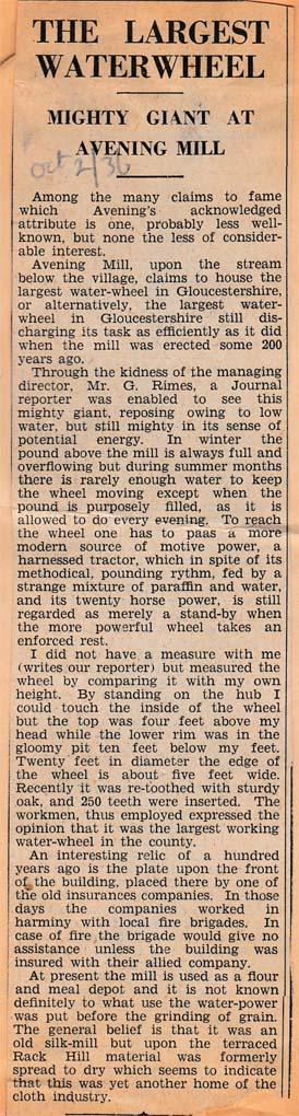 1936_10_2 Avening Mill