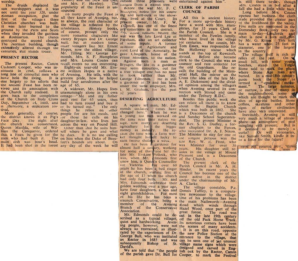 1956 (approx) Avening History b