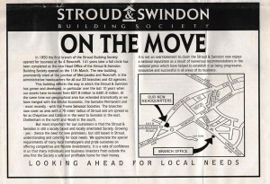 1991 Stroud & Swindon new HQ history 2