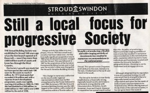 1991 Stroud & Swindon new HQ history 3