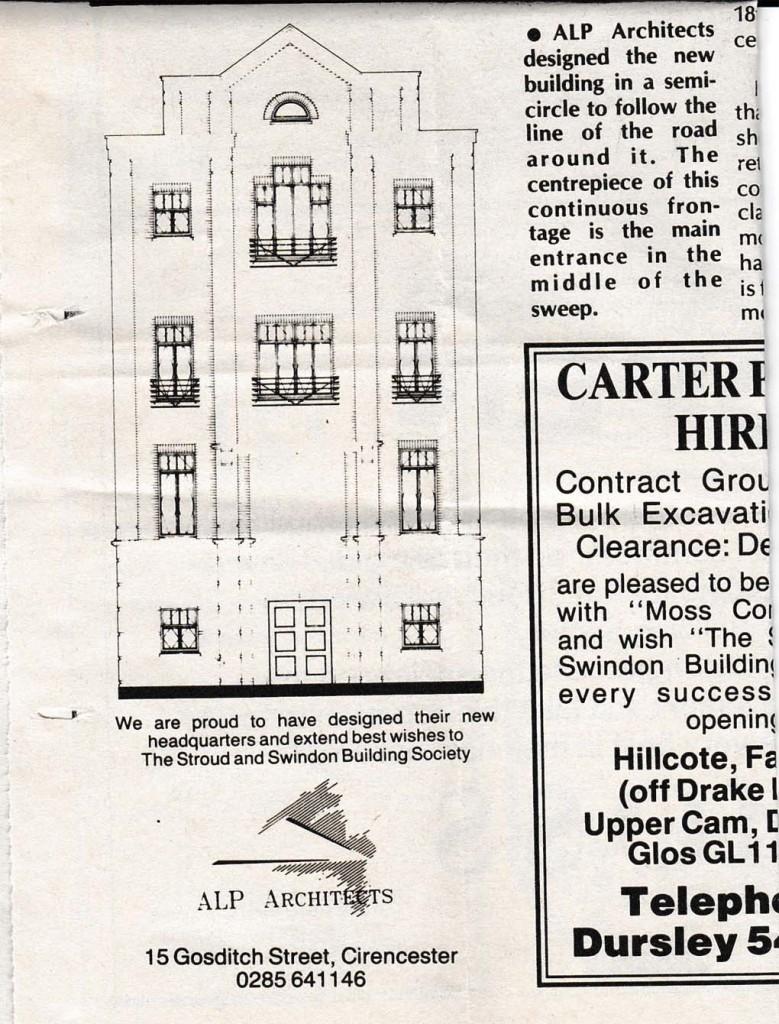 1991 Stroud & Swindon new HQ history 8